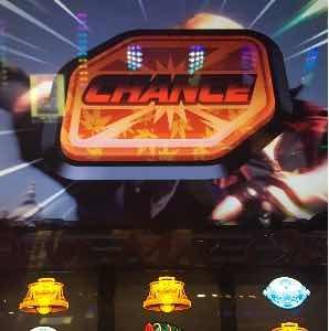 デビルメイクライクロスで紅葉柄プッシュボタン出現のプレミア演出画像